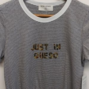 """NWT Bow & Drape """"Just in Queso"""" T-shirt"""